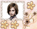 Moldura joia Broche flores