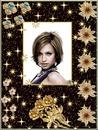 Χρυσή κορνίζα Λουλούδια αστέρια