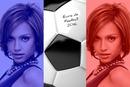 2 фотографије заставе Француске у евро Фообалл