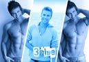 3 modrá