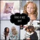 4 fotos com uma bolha comic