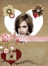 Coeur Saint Valentin Fleurs ♥