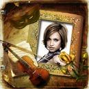 Hegedű hangszerek virágok rózsák