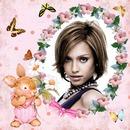 Conejo Flores Mariposas