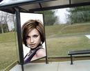Реклама на сайте автобусной остановке