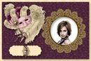 Venice Carnival Venetian mask Ostrich feather