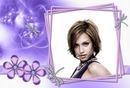 Libélulas Flores violeta