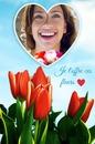 Bouquet de flores com coração vermelho das rosas