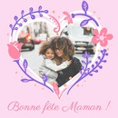 Hart bloemen Mother's Day