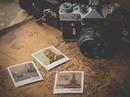 Oficina Polaroid de la vendimia