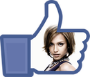I love Facebook button customizable transparent PNG