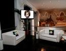 Scène LCD flat screen TV