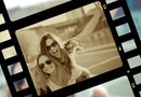 Film Strip met sepia effect