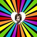 Corazón multicolores
