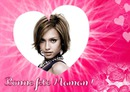 Heart ♥ Pink feather background