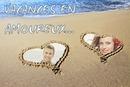 Hjerter på stranden ♥ 2 billeder