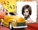 Notatki żółty music van