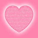 Text in pink heart