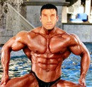 Bodybuilder mann Face