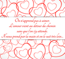 Carte de Saint Valentin Message d'amour