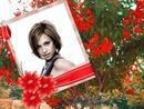 Polaroid Bouquet de fleurs rouges