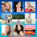 Photo montage frame Paradisiacal beach 8 pictures