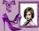 Moda escarpinos joyas violeta