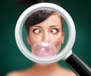Magnifying glass Blurred bakground