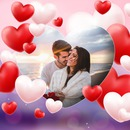 Your photo with lots of hearts and background customizable