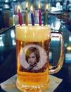 啤酒杯生日蜡烛