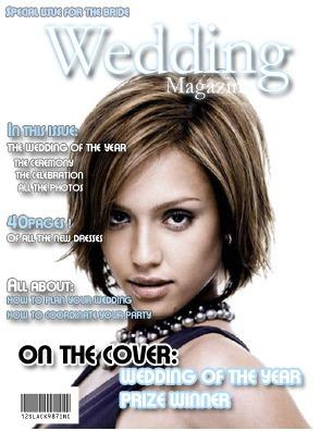 Tapa de revista Wedding