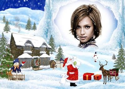 Babbo Natale Albero di neve