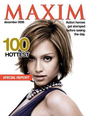 Tapa de revista Maxim