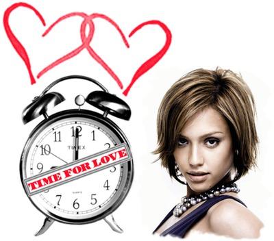 Despertador Time for love Corazones
