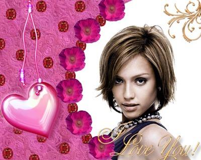 Corazón Flores I love you
