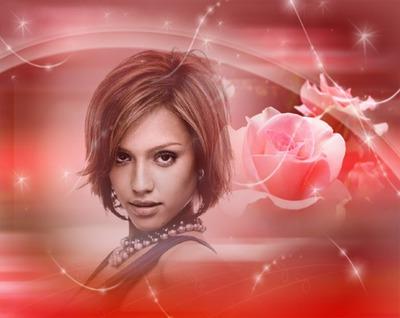 Rosa Fundido rojo