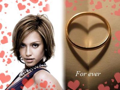 alliance fianailles mariage coeurs - Pixiz Montage Mariage
