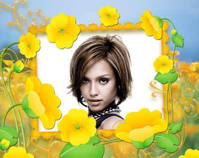 Botones de oro Flores amarillas