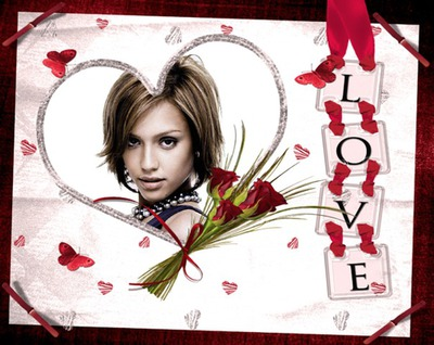 Corazón Love Ramo flores ♥