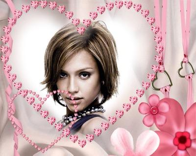 Corazones de diamantes rosa ♥
