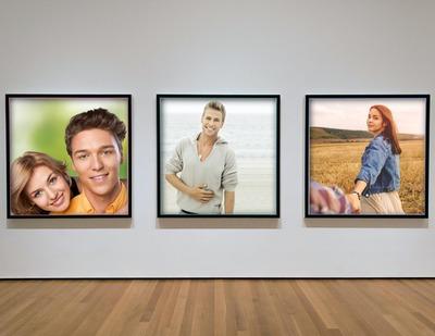 montage photo 3 cadres photos dans une galerie de mus 233 e pixiz