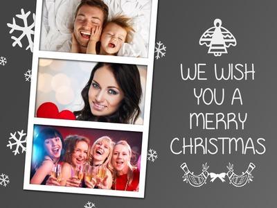 Stand di Natale 3 polaroids Greeting Card