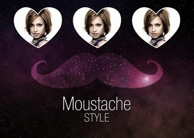 照片蒙太奇 Moustache swag+ fond galaxie.♥ - Pixiz
