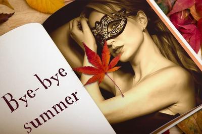 Foto otoño en un libro