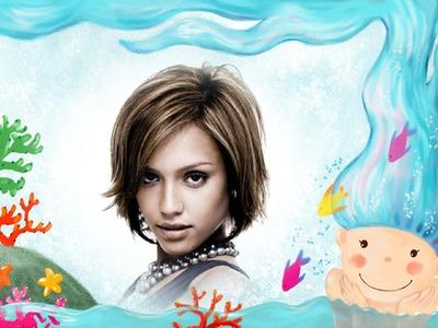 Ocean Mermaid bambino cornice