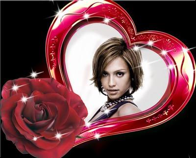Corazón Rosa roja ♥