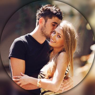 Lingkaran bergaya blur background