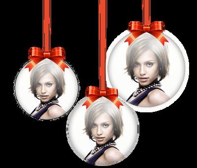 Montaje fotografico 3 bolas de navidad sobre fondo borroso - Bolas navidad transparentes ...