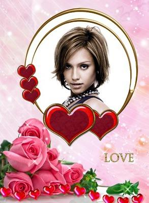 Love Roses Coeurs