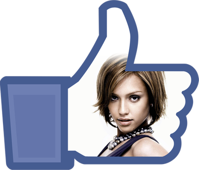 Me encanta Facebook botón PNG transparente personalizable